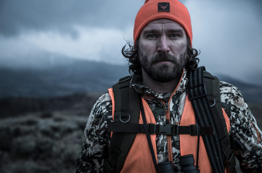 Blaze Orange and Rugged Hunting Apparel Appear in this Photograph by a Creative Agency for a National Work Wear Brand.