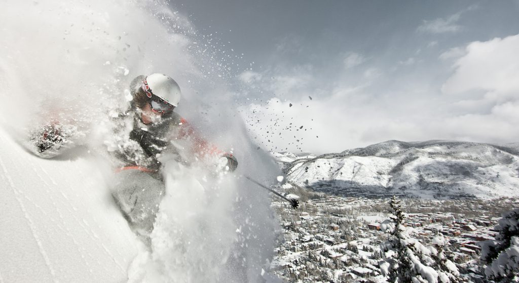 Adventure Travelers Enjoy Beautiful, Extreme Skiing At Aspen Mountain in this Photograph by Local, Professional Photographer, Tyler Stableford.