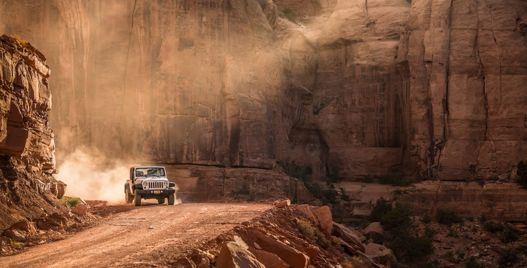 In the Jeeping Mecca of Moab, Utah, Images Like this are Just Part of the Lifestyle. Adventure Photographer, Tyler Stableford Snapped this Pic Deep in the Red Sandstone Canyons.