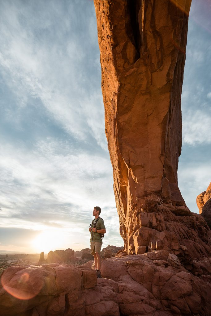 Exploring the Red Sandstone Canyons and Rock Formations Near Moab is an Incredible Travel Adventure for Anyone. This Photo Highlights the Drama of this Unique Landscape.