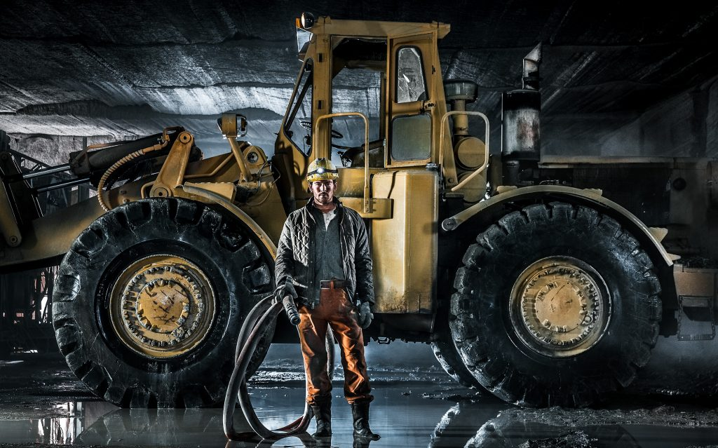 Tyler Stableford Captures the Stark Image of the Modern Craftsman in a Mine in Colorado. Photography Like this Highlights the Drama of the Industry.