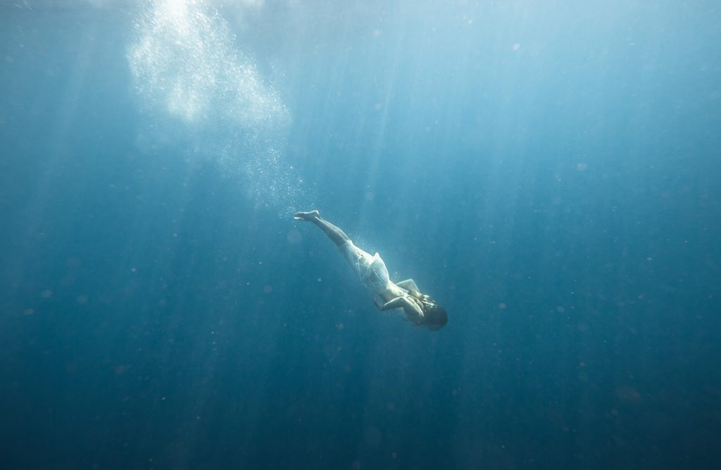 This Photograph Perfectly Captures the Power, Endurance and Bravery of this Graceful Swimmer as She Seeks to Position Herself Deep Below the Surface.